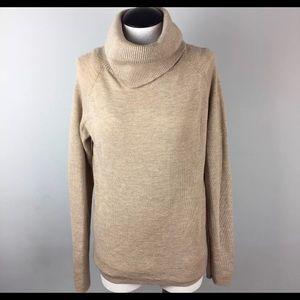 Ann Taylor Beige Wool Turtleneck Sweater Sz M